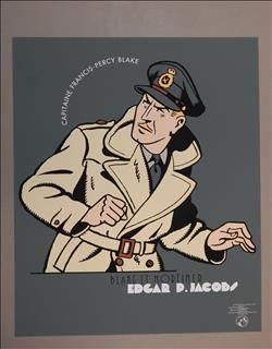Jacobs. Blake en Mortimer. Zeefdruk Blake. Archives Internationales. 1996
