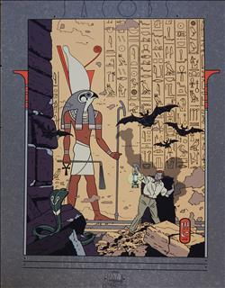 Jacobs. Blake en Mortimer. Zeefdruk. Le Mystère de la Grande Pyramide 1. Archives Internationales. 1988