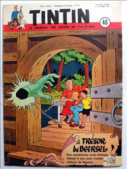 weekblad Tintin / Kuifje - 7° jaargang nr. 40 - Willy Vandersteen - 1952