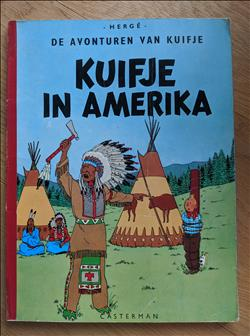 Kuifje - In Amerika. Linnen softcover.