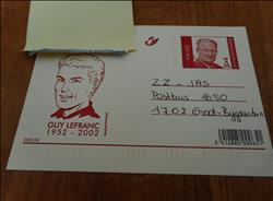 Jacques Martin-gele briefkaart Lefranc-2002