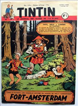 weekblad Tintin / Kuifje - 8° jaargang nr. 1 - Willy Vandersteen - 1953