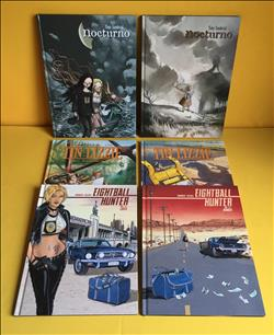Lot van 6 albums in hardcover (1) o.a Thin Lizzy,Eightball hunter  e.a. HC. 1e druk.