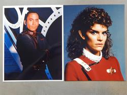 Star Trek - 2x Signed photograps of members of the cast of Star Trek - o.a. Robin Curtis - 1987