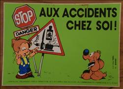 Bollie en Billie / Roba - sticker - STOP Danger - 1985