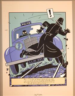 Jacobs. Blake en Mortimer. Zeefdruk Police. Archives Internationales. 1990