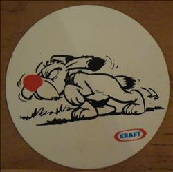 Asterix / Uderzo en Goscinny - sticker - Kraft Idefix - 1971