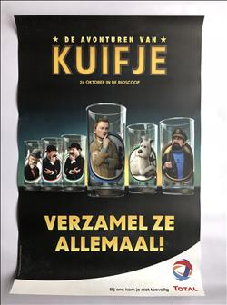 Kuifje - The adventures of Tintin - The secret of the unicorn  - filmposter - actie Total