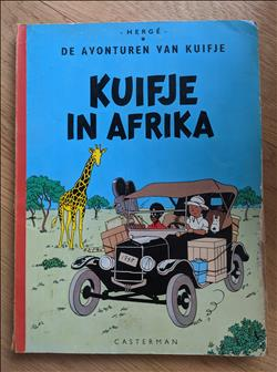 Kuifje - in Afrika. Linnen softcover.
