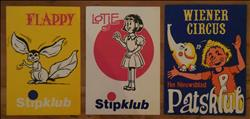 3 stickers - Patsklub / Stipklub - 1974 / 1977