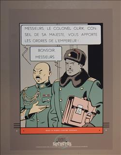 Jacobs. Blake en Mortimer. Zeefdruk Olrik. Archives Internationales. 1988