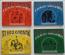 Flash Gordon 1 t/m 4 - oblong - sc - 1972/ 1973