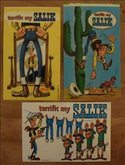 Lucky Luke / Morris - 3 stickers SALIK - 1971