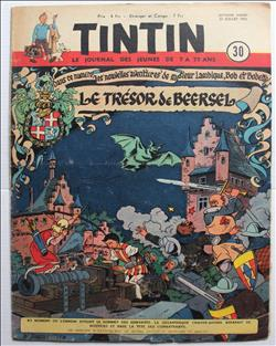 weekblad Tintin / Kuifje - 7° jaargang nr. 30 - Willy Vandersteen - 1952