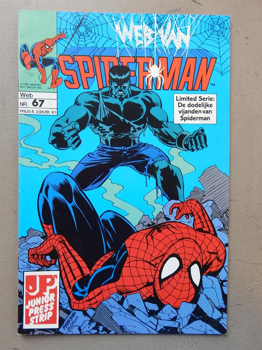 Web van Spiderman 67. 1e druk. sc. 1992. Junior Press