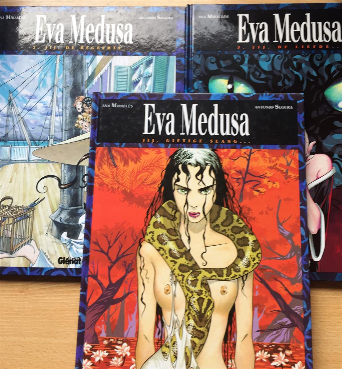 Eva Medusa 1 tem 3 - Hc albums (3x) - 1 ste druk - (1992/1994)