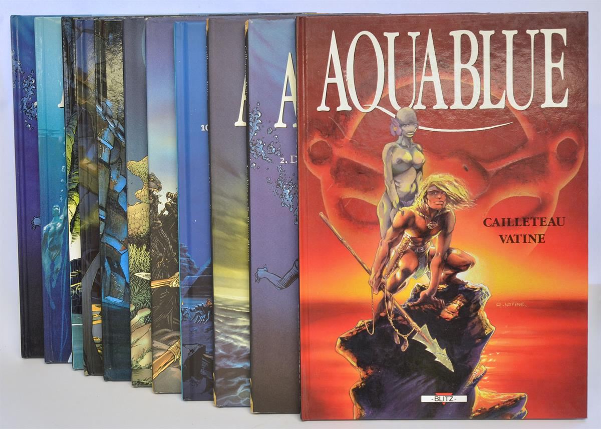 Aquablue - 11 x divers hc - 1988/2009