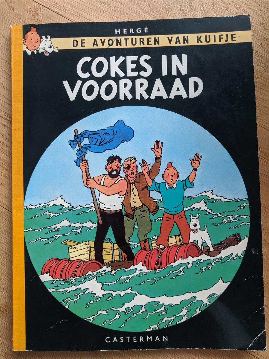 Kuifje - Cokes in voorraad. Linnen softcover.