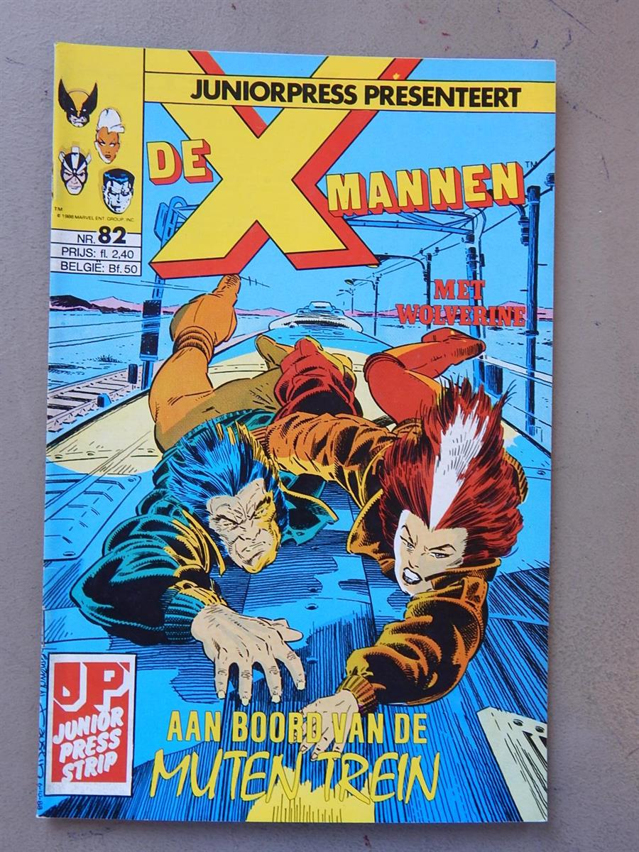 De X-Mannen 82. 1e druk. sc. 1989. X-Men. Marvel/Junior Press