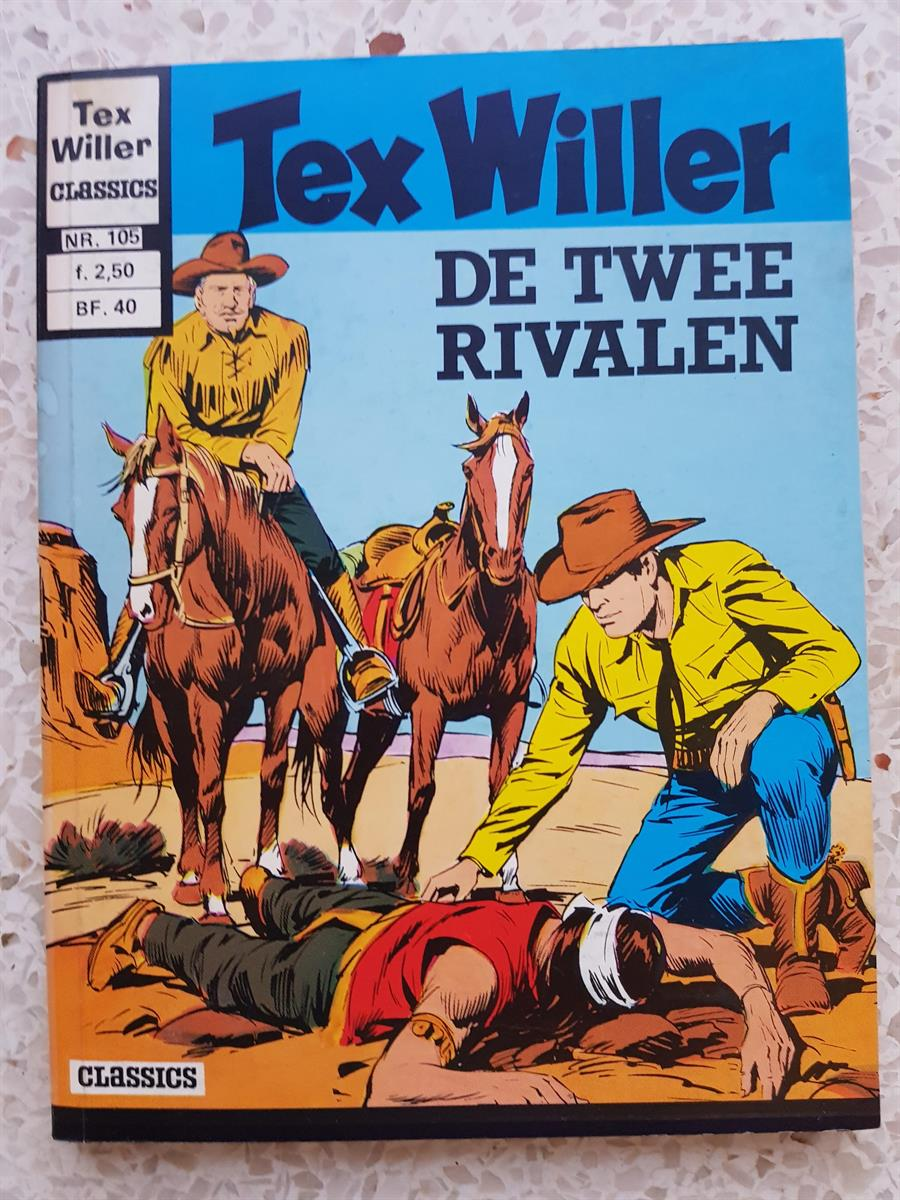 tex willer -105 de twee rivalen -  pocket